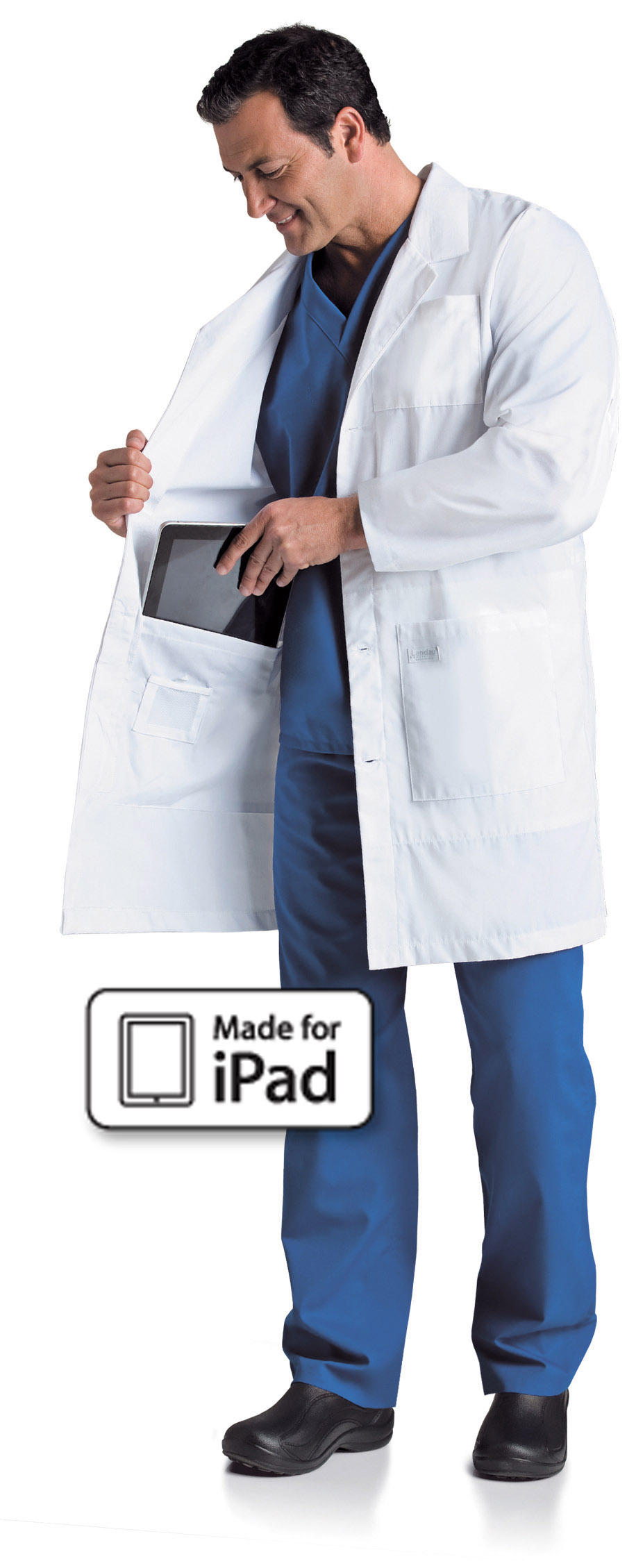 Landau Men's iPad Lab Coat - 3174 - Lab Coats | Murse World