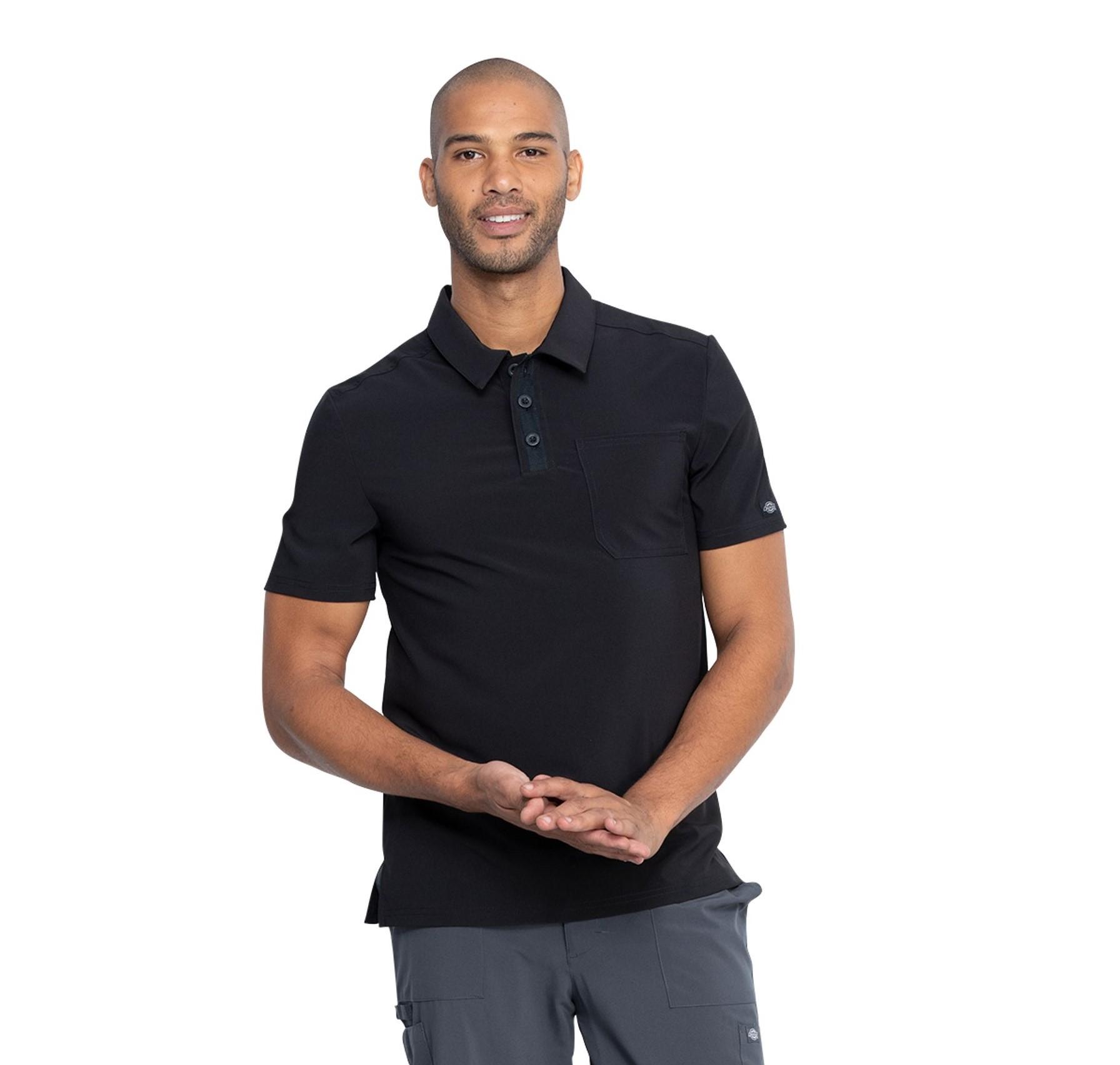 Black Dickies Scrubs EDS Essentials Mens Polo Top DK925 BAPS