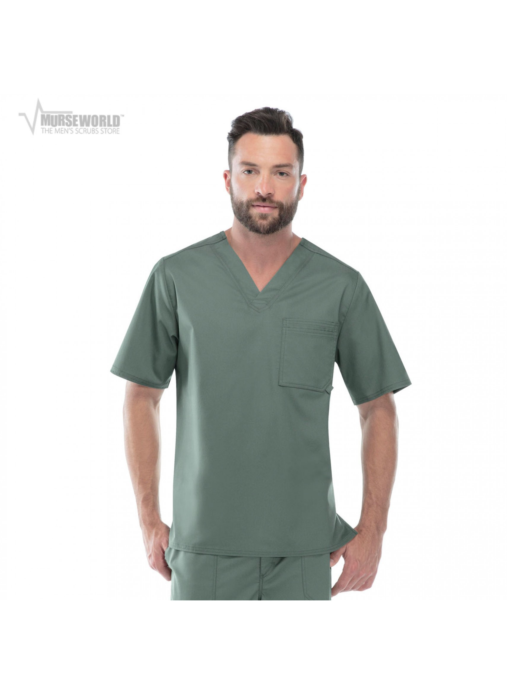 cca3f012a58 20% off all Dickies Scrubs! Use code DICKIES20 at checkout! Cherokee Luxe  Men's V-Neck Scrub Top ...