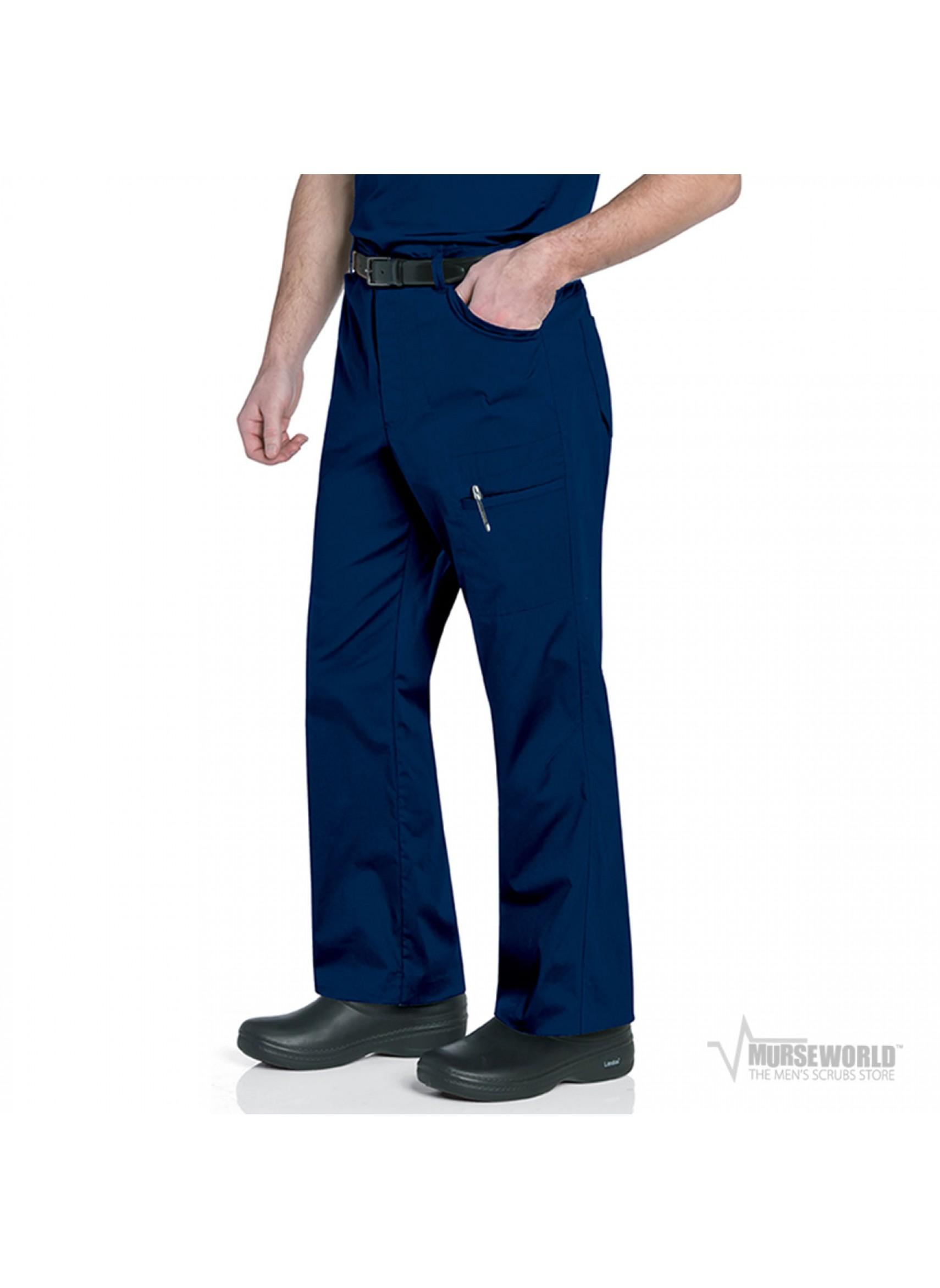 Scrub Cargo Pants M Navy Mens