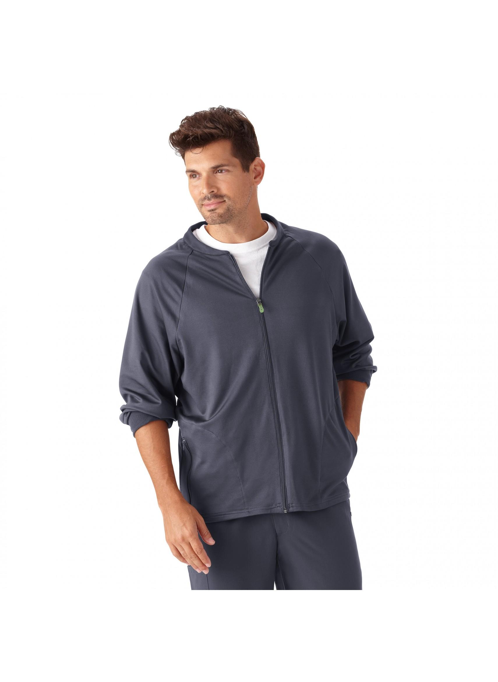Jockey Mens Front Zip Fleece Lined Warm Up Scrub Jacket 2397
