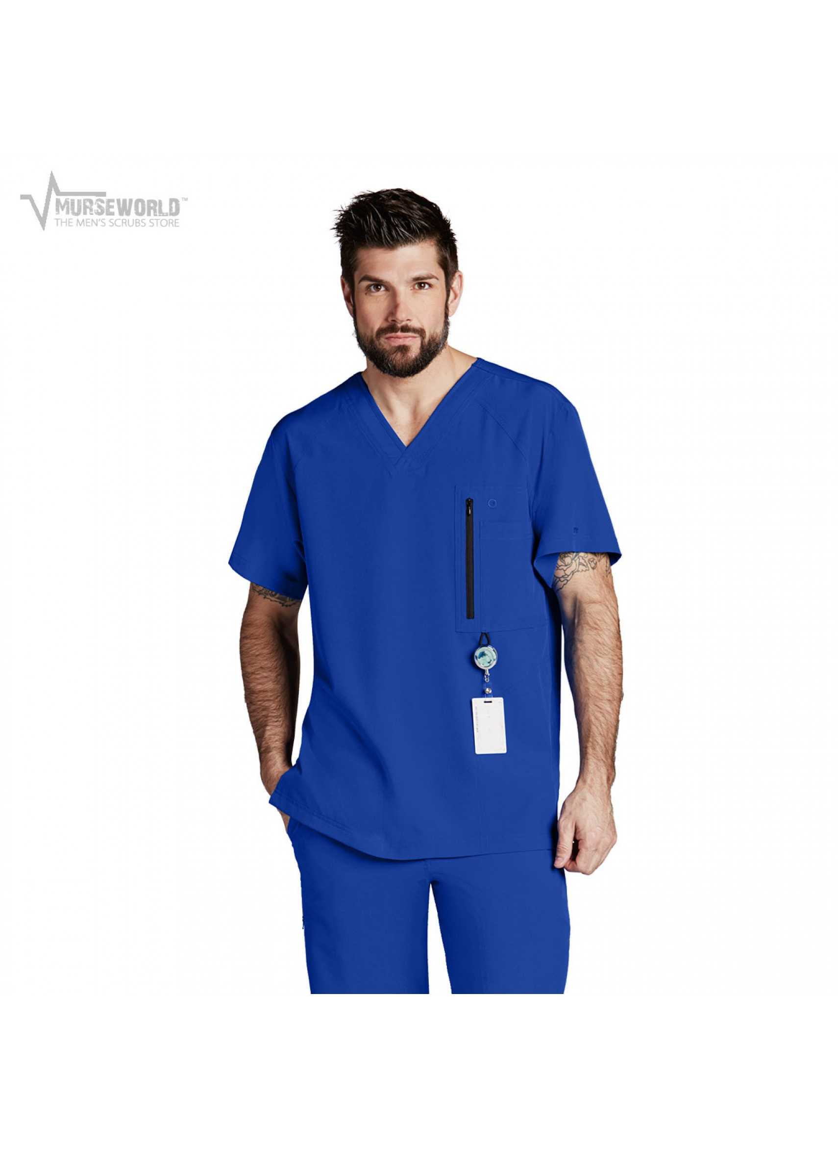 a693b2454b1 20% off all Dickies Scrubs! Use code DICKIES20 at checkout! Barco One Men's Athletic  Scrub Top ...