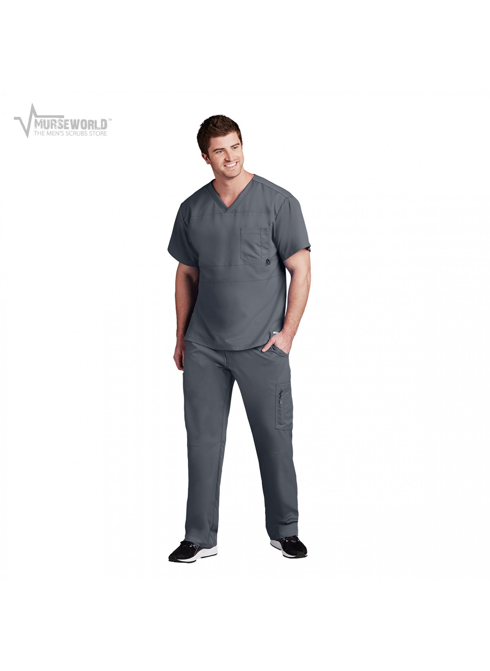 Grey\'s Anatomy Active Men\'s Panel Pieced Scrub Set - B116/B215 ...