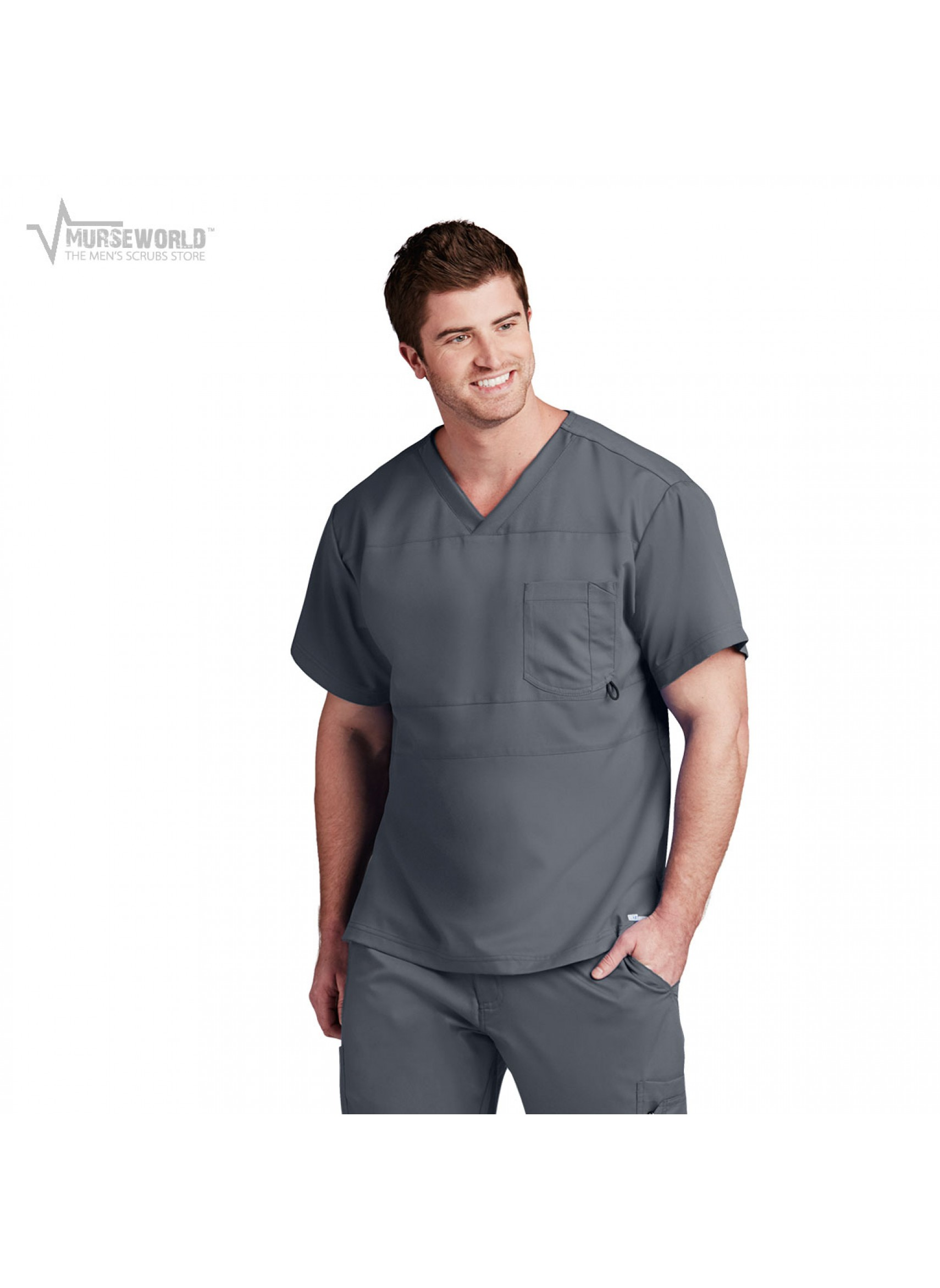 20% off all Cherokee Workwear with code WORK20 at checkout! Grey s Anatomy  Active Men s Panel Pieced Scrub Top ... 03360c3cc685