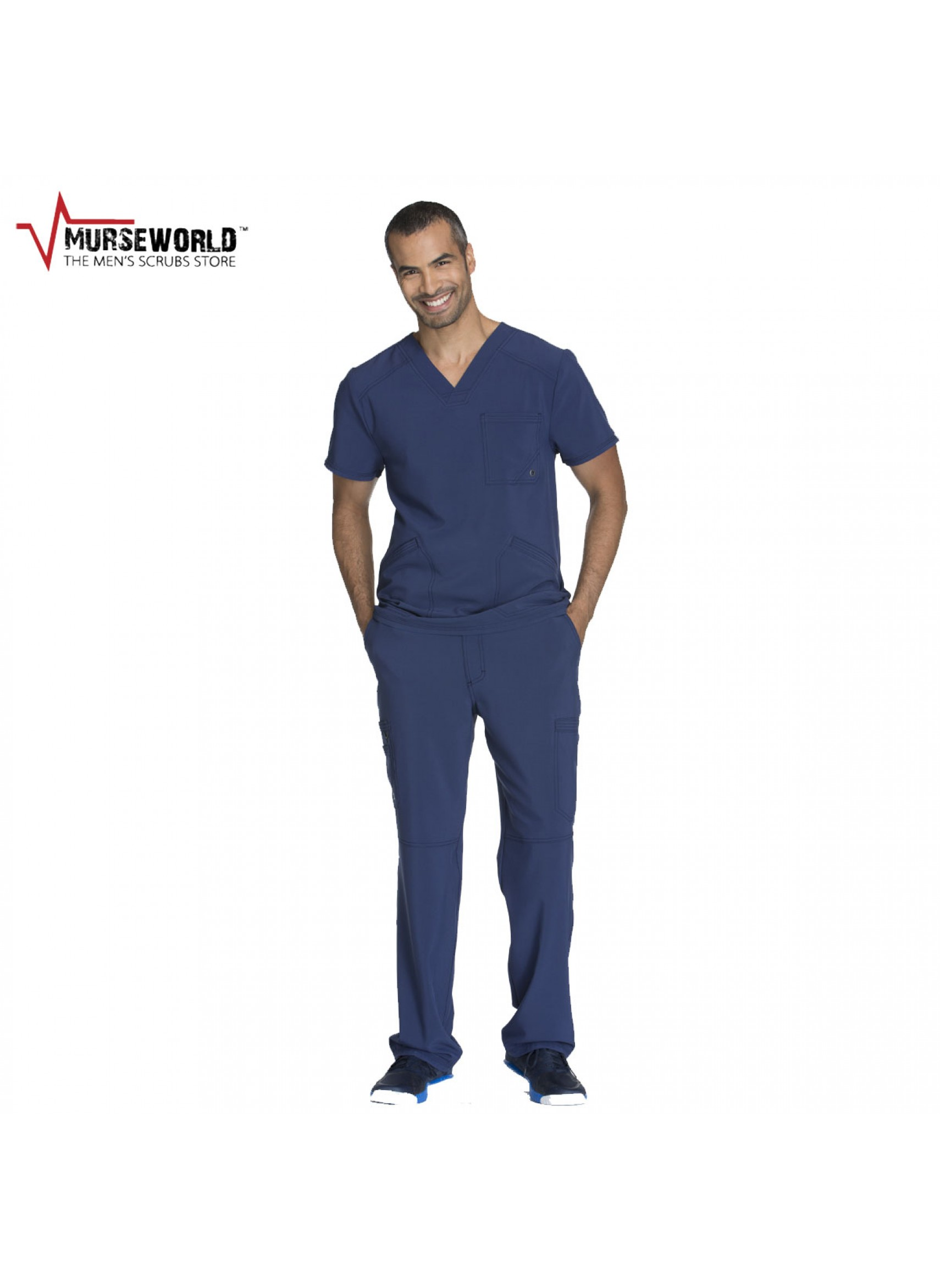 567b7d29a05 Cherokee Men's Infinity Antimicrobial Athletic Fit Scrub Set - CK900 ...