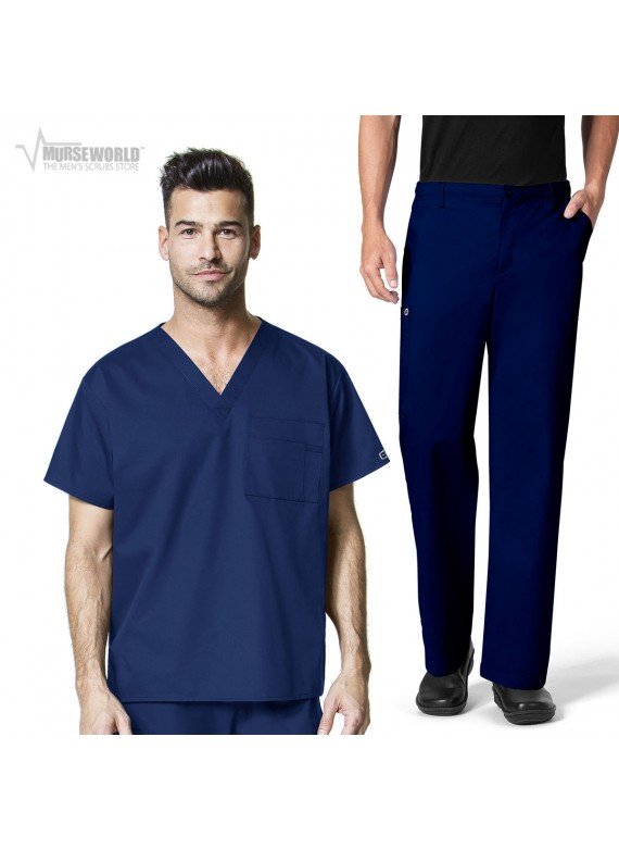 WonderWink WonderWORK One Pocket Top with Men's Cargo Pant Set - 100/503