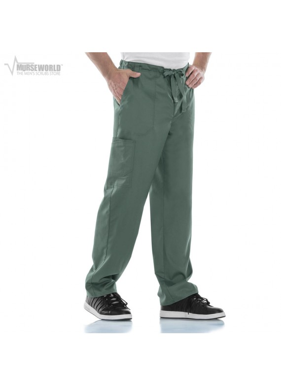 Cherokee Luxe Men's Fly Front Drawstring Cargo Pant - 1022