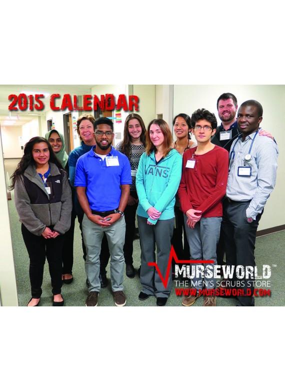 2015 Murse World Men in Nursing Wall Celandar