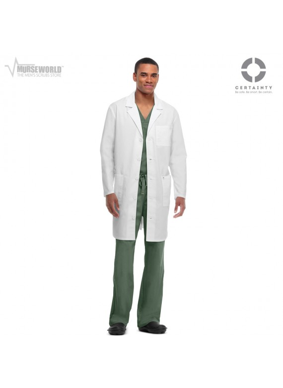 """Code Happy Unisex Antimicrobial 38"""" Lab Coat - 36400A"""