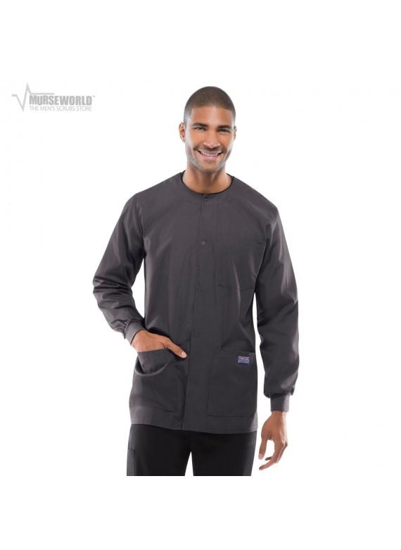 Cherokee Workwear Men's Poplin Warm Up Jacket - 4450