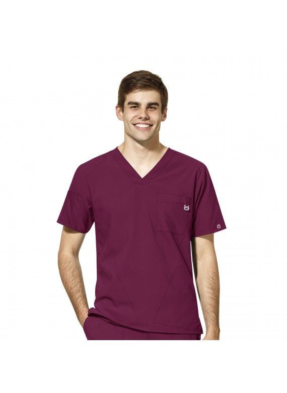 WonderWink W123 Men's V-neck 4 Pocket Top - 6355