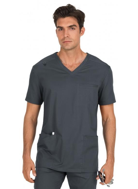 Koi Stretch Men's Tyler Multi Pocket V-neck Scrub Top-665