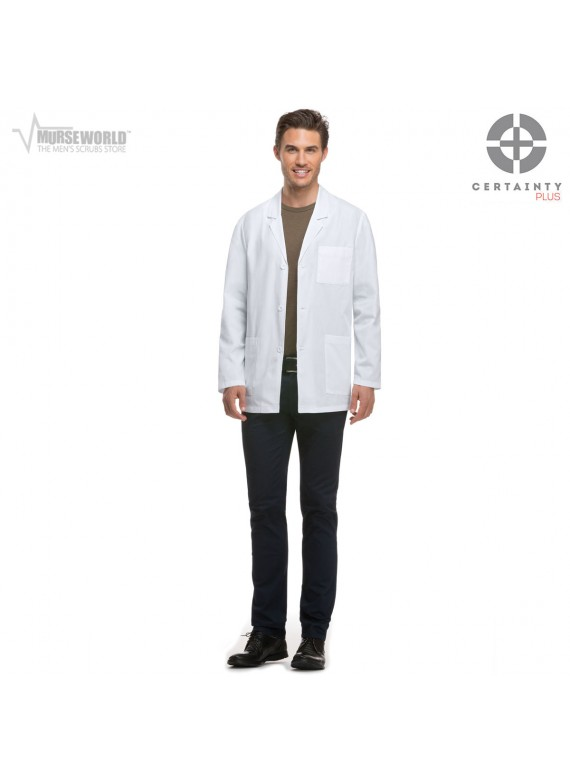 "Dickies Men's 31"" Consultation Antimicrobial with Fluid Barrier Lab Coat - 81404AB"
