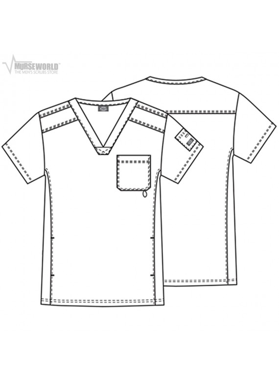 be204fc07b9 Dickies Men's Gen Flex Youtility Contrast Stitch V-Neck Top - 81722 ...