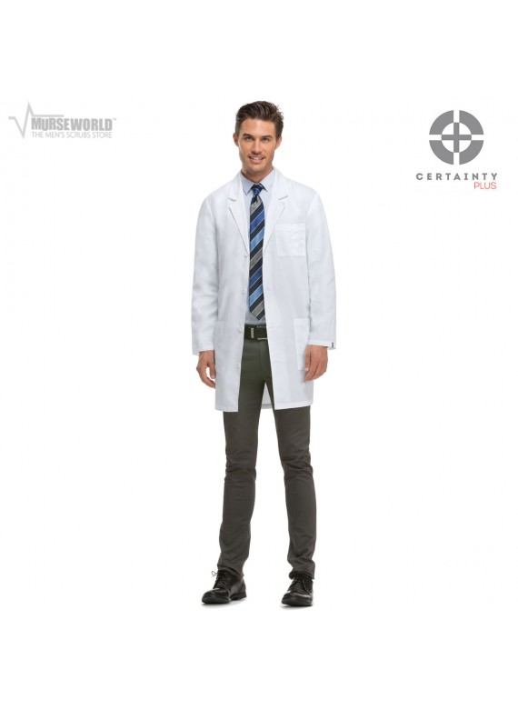 "Dickies 37"" Unisex Antimicrobial with Fluid Barrier Lab Coat - 83402AB"