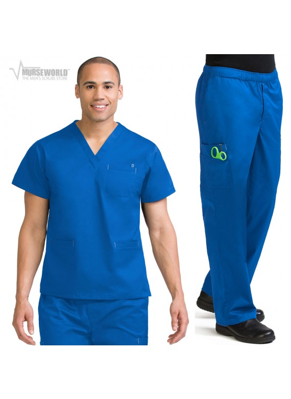 Med Couture Men's MC2 3 Pocket Cargo Scrub Set - 8471/8702