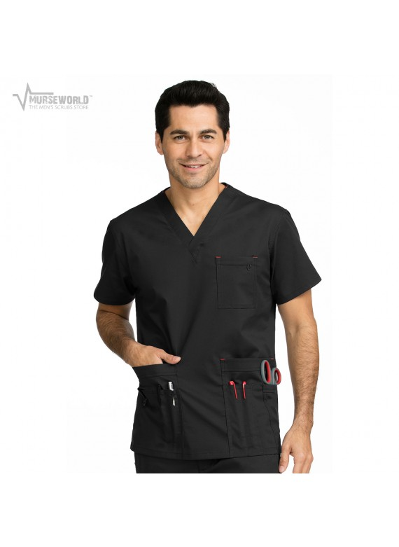 Med Couture Men's Red Alert Multi-Pocket Top - 8484