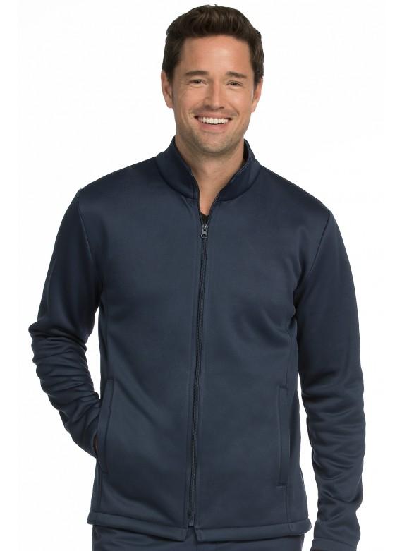 Med Couture Activate Men's Front Zip Fleece Warm Up Scrub Jacket -8688