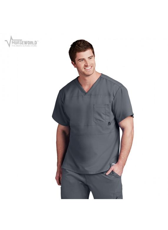 Grey's Anatomy Active Men's Panel Pieced Scrub Top - B116
