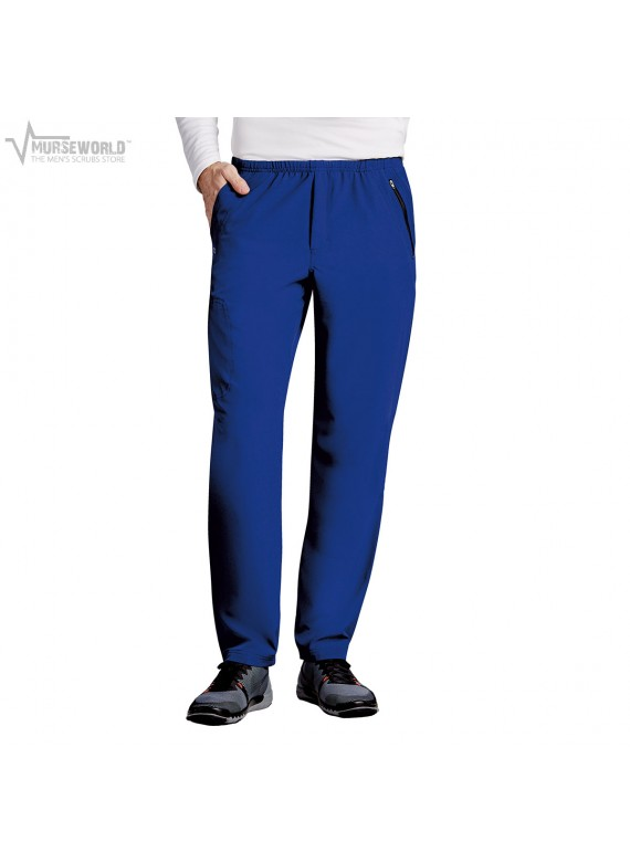 Barco One Men's Athletic Scrub Pant with Zipper Pocket - B217
