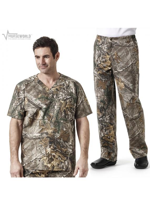 Carhartt Men's Realtree Camouflage Print Scrub Set - C15405/C55405 RTX