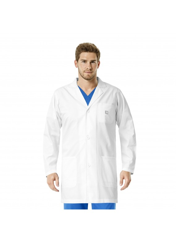 "Carhartt Men's Ripstop 36"" Lab Coat in White – C75108"