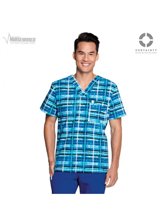 Code Happy Men's Antimicrobial Plaid Print Top - CH605X5A