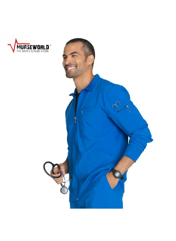 450fa388a3a Cherokee Men's Infinity Antimicrobial Athletic Fit Scrub Jacket ...