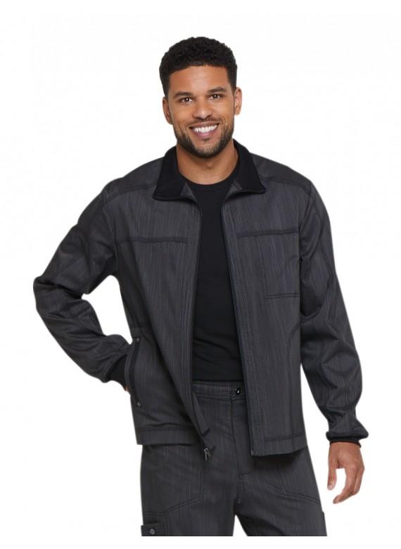 Dickies Advance Two Tone Twist Men's Zip Front Scrub Jacket - DK315