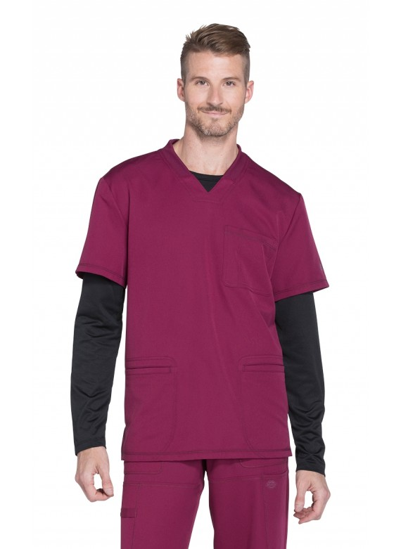 Dickies Dynamix Men's V-Neck Scrub Top with Pockets - DK640