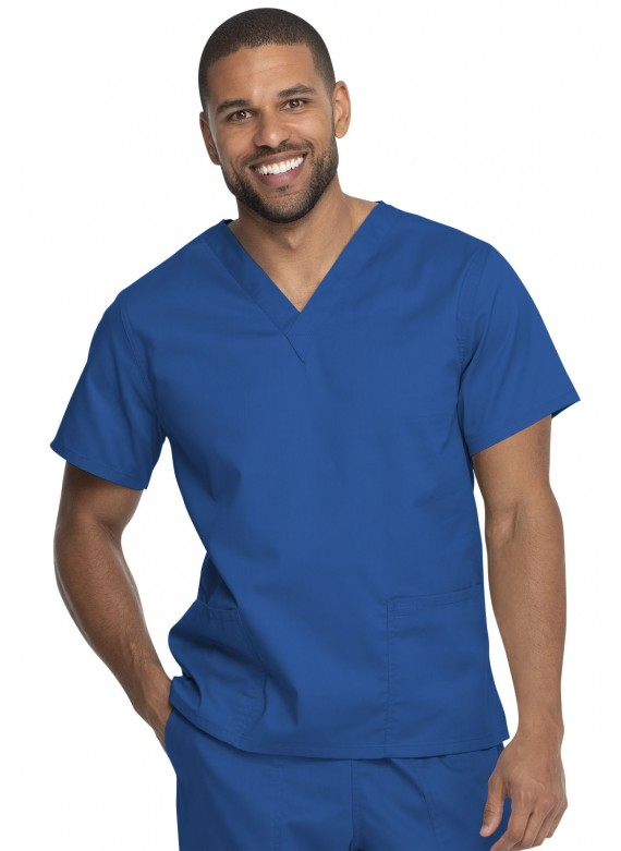 Genuine Dickies Industrial Laundry Durable V-neck 2 Pocket scrub Top- GD640