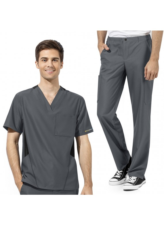 WonderWink WonderTECH Men's Athletic Fit Scrub Set 6213/5213