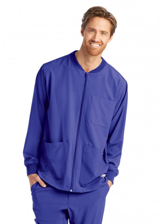 Skechers Men's Structure Zip Front Multi Pocket Warm Up Scrub Jacket- SK0408