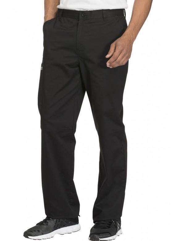 Cherokee Workwear Core Stretch Men's Flat Front Cargo Scrub Pants- WW200