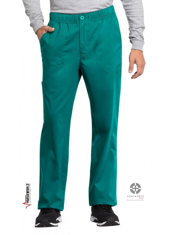 Cherokee Workwear Revolution Tech Men's Straight Leg Drawstring Scrub Pants - WW250AB