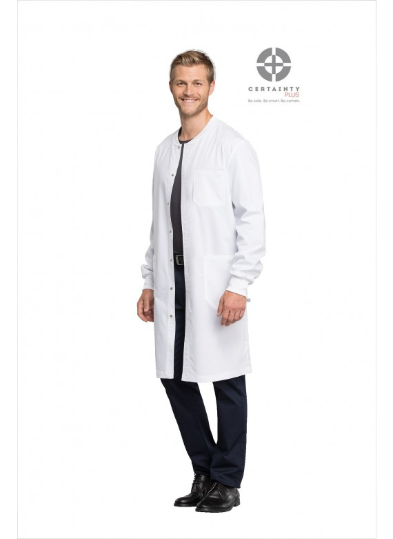 "Cherokee WW Revolution Tech Unisex Snap Front 40"" Lab Coat - WW350AB"