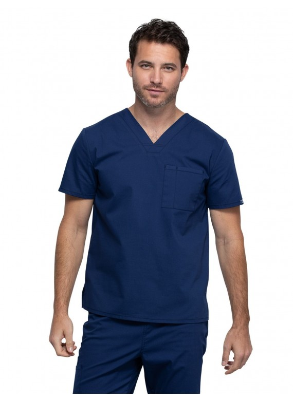 Cherokee Workwear Professionals Unisex V-neck 1 Pocket Scrub Top- WW644
