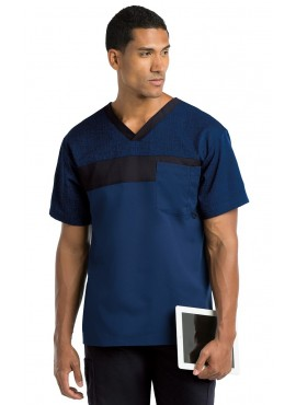 Grey's Anatomy Active Men's Color Block Scrub Top - 0117