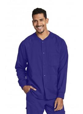 Grey's Anatomy Men's Warm Up Scrub Jacket with Raglan Sleeve and 5 Pockets- 0406