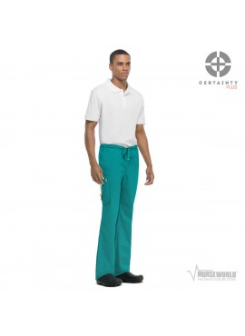 Code Happy Men's Antimicrobial with Fluid Barrier Bliss Drawstring Cargo Pant with Certainty Plus - 16001AB