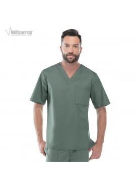 Cherokee Luxe Men's V-Neck Scrub Top - 1929