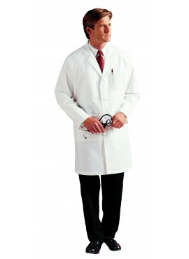 Landau Men's 3-Pocket Poplin Lab Coat - 3132