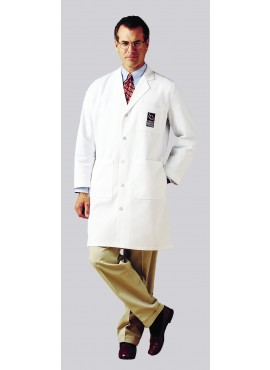 Landau Men's 3-Pocket Twill Lab Coat - 3139
