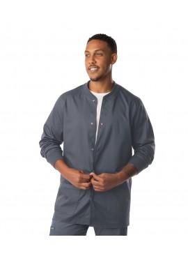 Landau ProFlex Men's Snap Front Modern Fit Warm Up Scrub Jacket- 3170