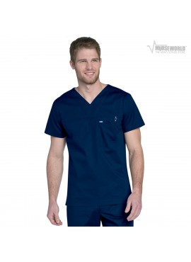 Landau Men's Stretch Ripstop Scrub Top - 4127