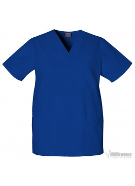 Cherokee Workwear 4876 Unisex V-Neck 3-Pocket Solid Scrub Top