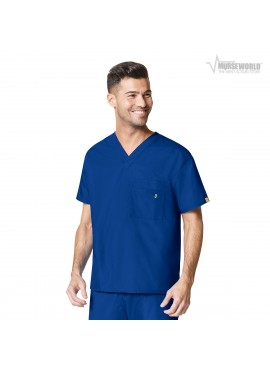 "WonderWink Unisex V-Neck Scrub Top - ""The Alpha"" - 6006"