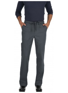 Koi Stretch Men's Ryan Slim Leg Cargo Pocket Scrub Pants-604