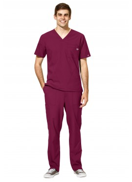 WonderWink W123 Men's Multi Pocket Modern Fit Scrub Set- 6355/5355
