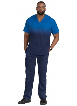 Koi Lite Men's Soul Discovery 8 Pocket Stretch Modern Fit Scrub Set- 670PR/606